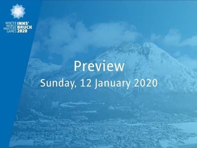 Preview: tomorrow Sunday, January 12, 2020