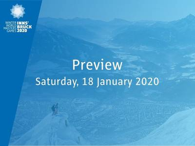 Preview: tomorrow Saturday, January 18, 2020