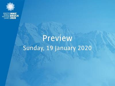 Preview: tomorrow Sunnday, January 19, 2020