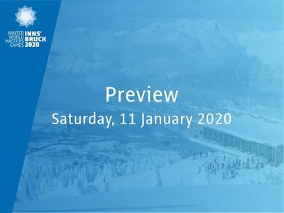 Preview: tomorrow Saturday, January 11, 2020