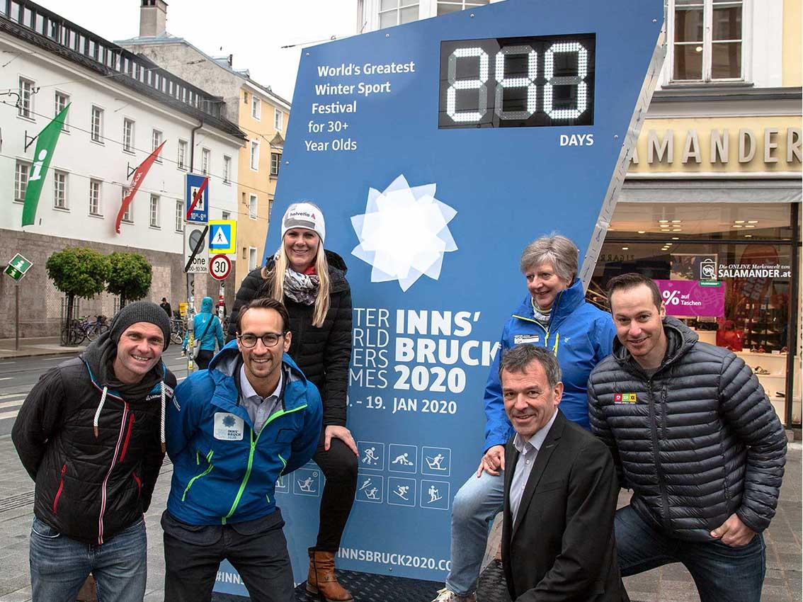 Winter World Masters Games countdown clock unveiled in the centre of Innsbruck